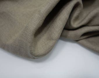 Linen fabric, washed linen, 180gsm, brown color. Linen fabric by the meters, linen by the yard. Vintage linen. For clothes, bedding, textile