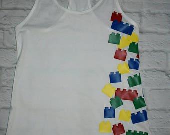 Lego inspired shirt, legoland, lego birthday, lego bricks