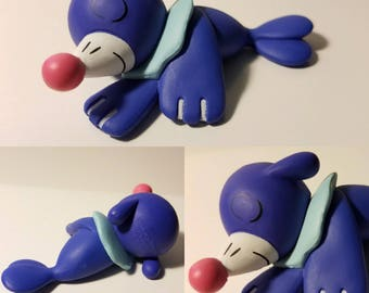 Sleeping Popplio Poke'rarium! Pokemon Pokeball Terrarium! Custom made to order, 4in