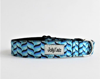 Boy dog collar for friends dog Teacup dog collar boho Large dog collar male Blue dog collar for boy Dog show collar Cute for mom dog