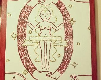 Custom tarot card painting