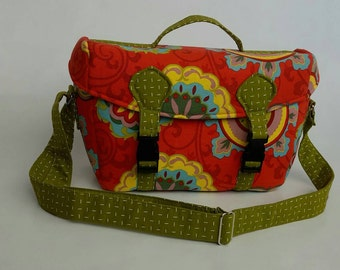 DSLR camera bag, bright camera bag, floral camera bag, women's camera bag, camera case, camera tote, padded camera bag, large camera bag,