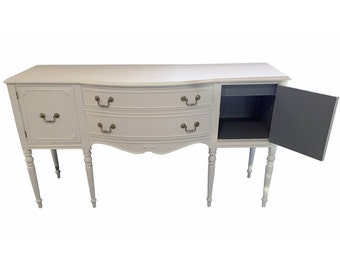 Snow and Smoke Sheraton Style Vintage Sideboard