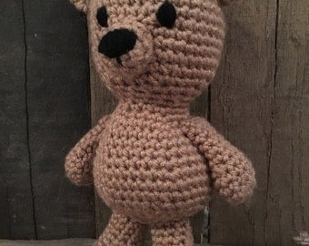 Crochet Amigurumi Bear with flower
