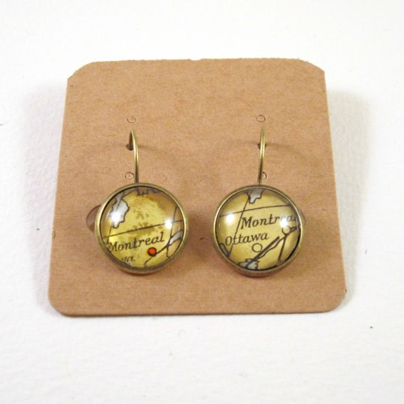 Map earring - North America variations