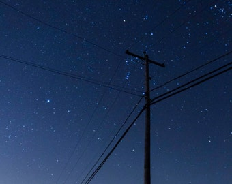 Power lines - photography print