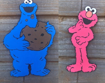 Sesame Street themed Cut Outs