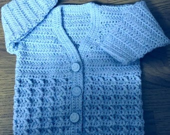 PDF DK Crochet Pattern For Baby/Child V Neck Cardigan Sizes Birth to 6 years (1007)