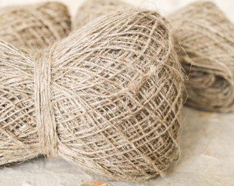 Hemp yarn in Natural color 90 gm/0.2 lb, Eco Friendly, organic fiber