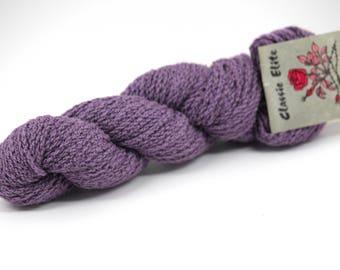 Classic Elite Poet wool chenille light purple knitting crochet yarn