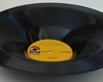 Iron Butterfly In-A-Gadda-Da-Vida Recycled Vinyl Record Bowl