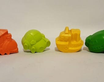 Train Car Boat Plane Crayons - Set Of 24 - Birthday Party - Goody Bags - Party Favors - Kids Colouring - Loot Bags