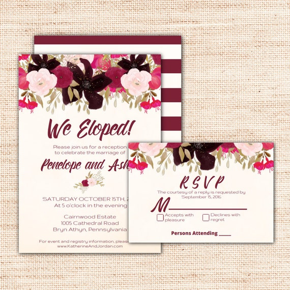 We Eloped Party Invitations was beautiful invitation sample