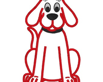 Clifford Big Red Dog 01 Applique Embroidery Design