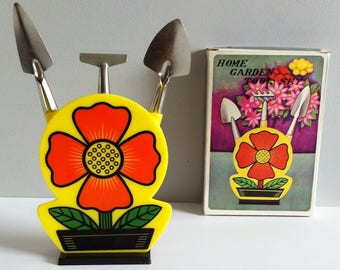Retro Flower Power Plant tool kit, home, garden tool set.