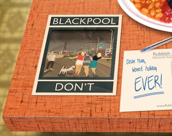Blackpool: Don't - A6 Rubbish Seaside Postcard