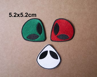 Alien patch, UFO Alien patch, Punk patches, Appliqué Embroidered patch, iron on patches, sew on patch, WS-189