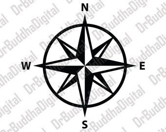 Holiday Sale! Compass Rose SVG Collection - Compass DXF - Compass Clipart - SVG Files for Silhouette Cameo or Cricut