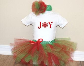 Christmas Joy Tutu Outfit