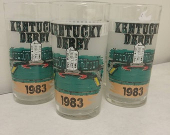1983 Kentucky Derby Mint Julep  Glasses (Price is per glass, as in each) Set of five