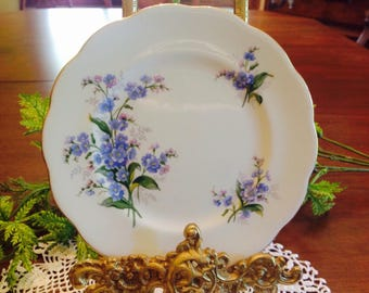 """Royal Albert Forget me not 6 1/4"""" desert plate"""