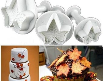 3 small molds cake Multi shapes of Ivy away Pieces sugar paste