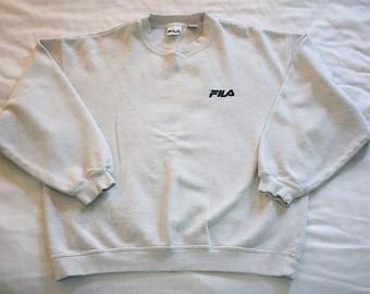 Vintage 80s Fila crew neck sweatshirt Size L Spellout