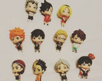 CUSTOM Haikyuu!! figures for Decoden phone case / 3DS case
