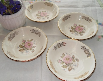 """Set of Four Queen Esther 5 1/2"""" Bowls Liberty by Homer Laughlin in the early 1950's"""