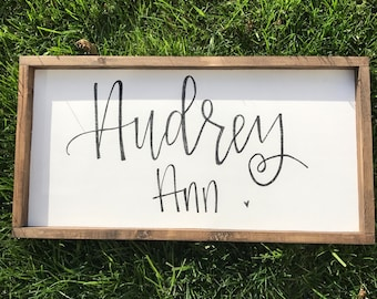 Wood Nursery Name Sign - Name Sign - Baby Name Sign - Farmhouse Nursery - Rustic Sign -  Farmhouse Name Sign - Farmhouse Decor - Rustic
