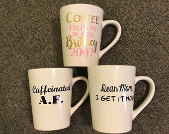 Custom coffee cups