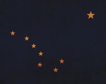Vintage Alaska Flag on Canvas, Alaska, Flag, Wall Art, Alaska Photo, Alaska Print, Giclee, Fine Art,  Flag, Single or Multiple Panels
