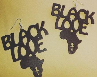 Black Love Earrings