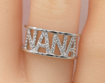 Nana Ring/Nana Gift/Sterling silver ring/Grandma Gift/Gifts for Grandma/Grandparent gifts
