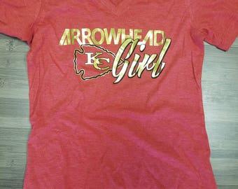 Arrowhead Girl Ladies V-Neck
