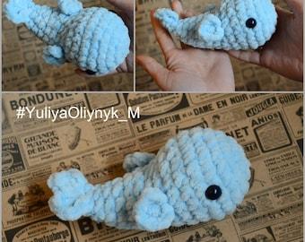 Amigurumi, Crochet Whale Plush, Toy Kawaii, Whale Stuffed, Animal Blue Whale Doll Whale Baby Toy, Crochet Whale Toy, Baby Toys Handmade