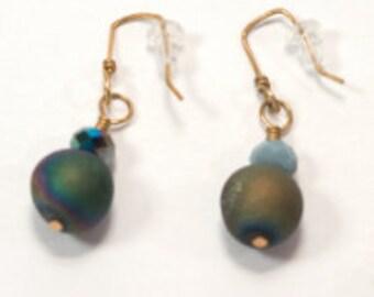 Round Dangle Drop Earrings