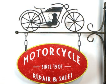 Vintage Motorcycle sign