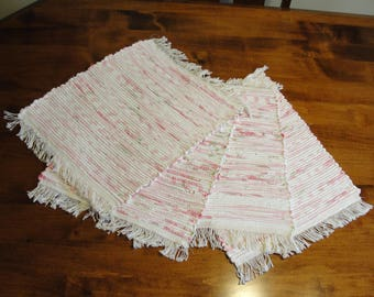 "Hand Woven Multi-Pink Placemats  Set of 4  Measurements 13 1/2"" x 18"" Item#90"