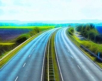Freeway to home, art print, 40 x 30 cm