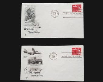 1962 US Air Mail First Day Issue FDC - Stamp - Scott C64 - 8 Cents Airliner and Capitol Dome