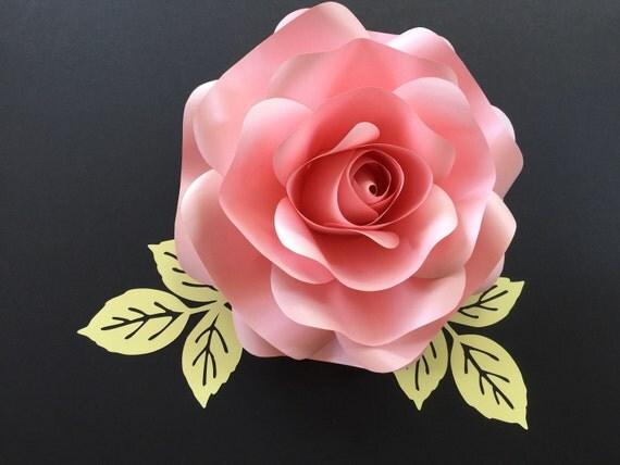 Rose Leaf Template Pdf Svg Pattern  Paper Leaf Template