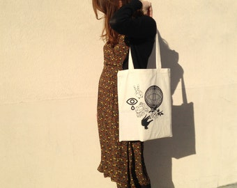 Tote bag Salem silk screen printed cotton