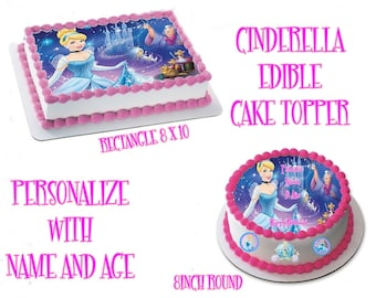 Cinderella Inspired Edible Images Cake topper
