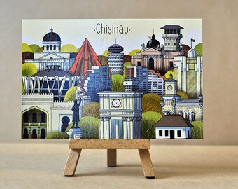 Chisinau postcard - Chisinau multiview - Chisinau City - Chisinau Monuments - Chisinau City view - City view postcards - Old Chisinau - Art