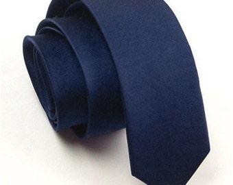 Navy Tie, Groomsman Tie, skinny tie, groomsman tie set, navy skinny tie, navy tie