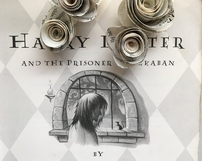 Harry Potter Book Page Flower Hair Clips
