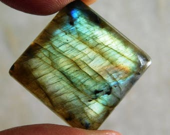 Golden And Blue Labradorite Cabochon Genuine Handmade Gemstone For Jewelry Making - 43.45ct.(23X23X7)mm ( #659)