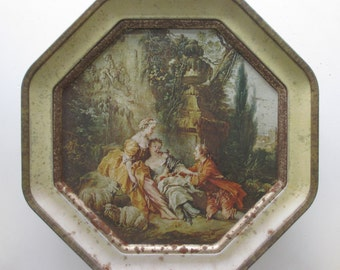 Vintage Rococo Biscuit Tin