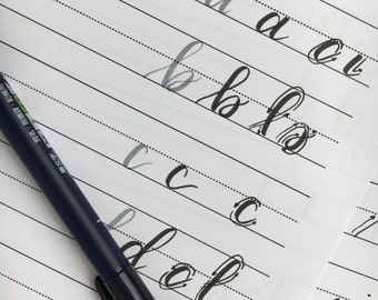 LEFTY Lowercase Modern Calligraphy Practice Sheets